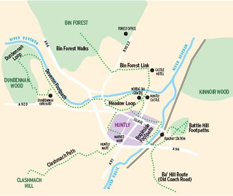 Footpaths map